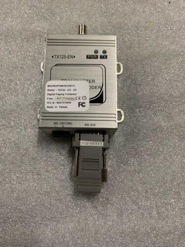 Digital Paging Company TX125-EN Transmitter Pocsag Encoder