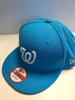 S05 NEW ERA WASHINGTON NATIONALS LEAGUE Snapback Blue Baseball Cap * S/M