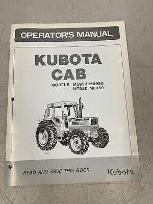 Kubota Cab Operators Manual Models M5950 M6950 M7950 M8950 Catalog