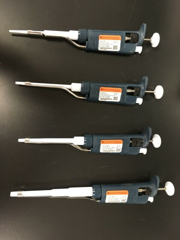 Gilson Pipetman Pipette Set P20, P100, P200, and P1000 | Cleaned + Calibrated