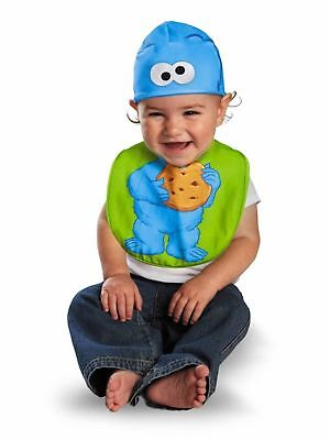 Disguise Drool Over Me Sesame Street Cookie Monster Infant Bib and Hat Gift Set - Cookie Monster And Cookie Halloween