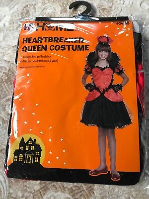 Heartbreaker Queen Halloween  Girls Costume Size S/M (Age 6-8) * NEW - Free Ship