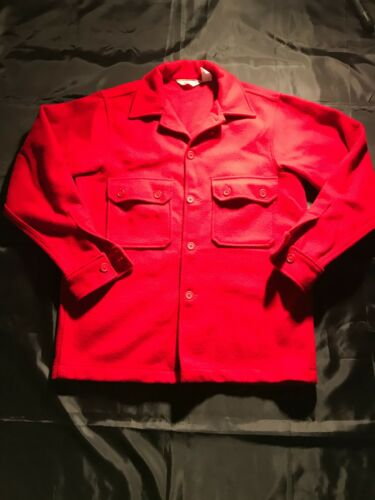 Official BSA Boy Scouts of America Red Wool Coat - Size 40 -