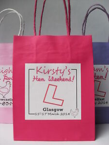 HEN NIGHT PARTY GIFT BAG ** FILLED** - CREATE YOUR OWN
