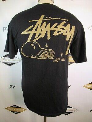 E7375 VTG STUSSY Skateboard Graphic T-Shirt Size M