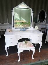 ♥ QUEEN ANNE FRENCH DRESSING TABLE SWIVEL MIRROR ♥ Belmont Brisbane South East Preview