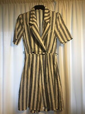 Size 10 Vintage Striped Jumpsuit