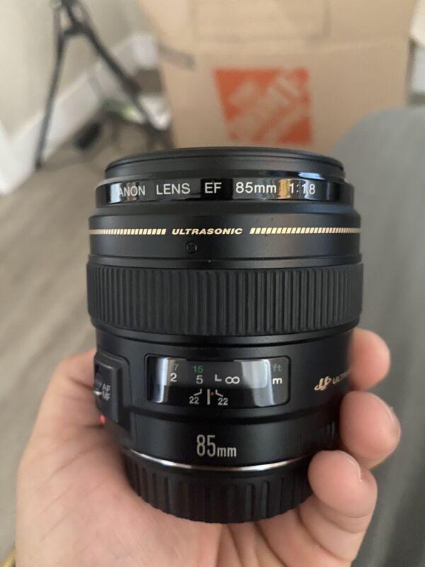 Canon EF 85mm F/1.8 USM Telephoto Lens (2519A003)