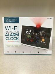 La Crosse Wi-Fi Projection Alarm Clock with Accu Weather Forecast