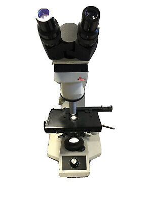 Leica Atc 2000 Illuminated Compound Light Microscope 3 Objectives Warranty