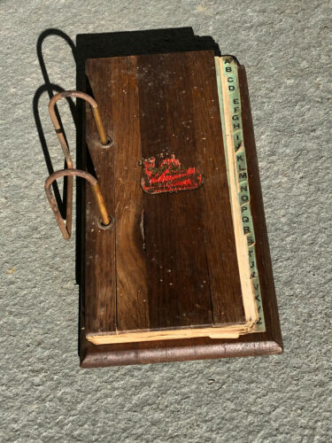Antique 1930 Willard Service Gas Station Fennimore Wi Wood Desktop Ledger Book