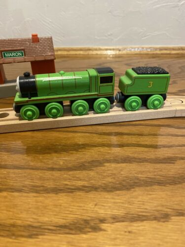Henry With Coal Tender - Thomas And Friends Wooden Train Y4072 - $9.90