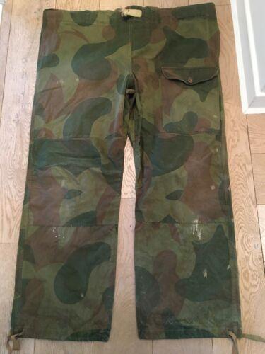 Vintage Belgian camouflage camo trousers pants  Congo Mercenary Nigel Cabourn