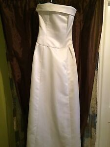 Strapless simple wedding gown- only $25!