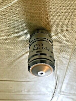 Zeiss Microscope Neofluar 63x 1.25na Oil Phase 3 160mm- Objective
