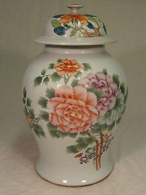 große Porzellan Deckelvase-handgemalt-alt-China-40 cm-alte Deckelvase