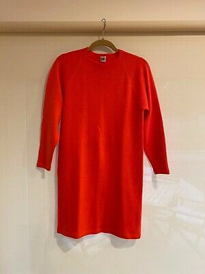 Stephen Sprouse 1984  Vintage- sweater dress Day-glo orange -SS84