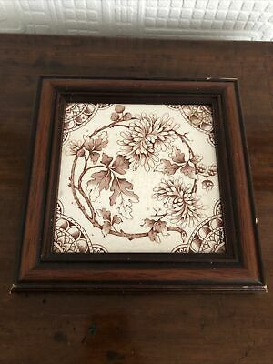 Beautiful Antique Tile In Frame
