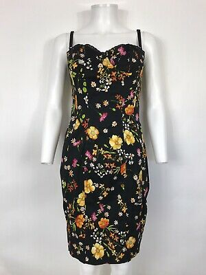 Rare Vtg Dolce & Gabbana D&G Black Floral Dress L