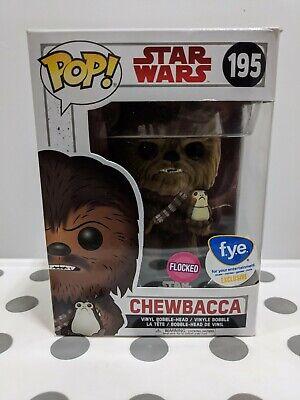 FUNKO POP! Star Wars CHEWBACCA #195 Flocked FYE Exclusive
