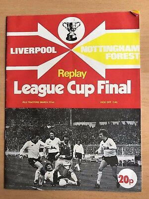 Match Programme: Liverpool v Nottingham Forest - League Cup Final Replay 1978