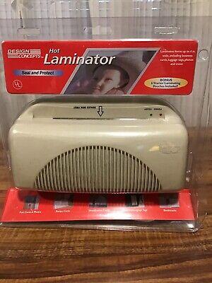 Design Concepts Laminator Machine W6 Starter Pouches Cards Photo Protection