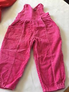 Children's Pink Cord Overalls - Size 3