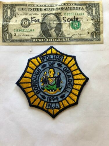 Oradell New Jersey Police Patch ( Borough of) un-sewn in Great Shape