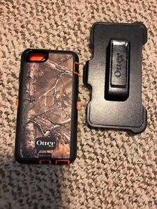 Orange Camouflage IPhone 6 otter box case