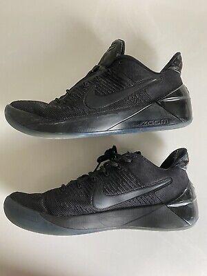 Men's Nike Kobe A.D. Triple Black Mamba Basketball Shoes Size 8 852425-064