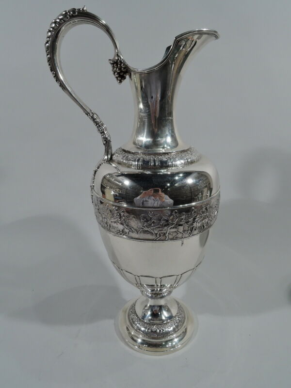 Tiffany Ewer - 8483 - Large Antique Neoclassical - American Sterling Silver
