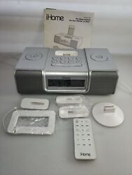 iHome iP9 Speaker Dock with Clock Radio and Alaram Clock : Remote Included