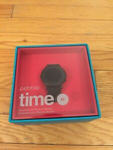Pebble Time Round 20mm Smart Watch: Brand new in box