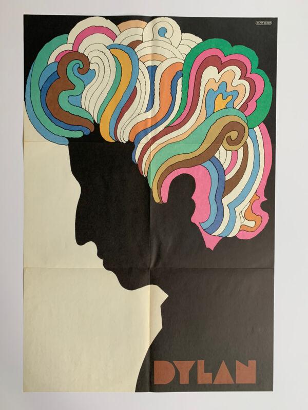 "Original 1967 Bob Dylan Poster 22"" x 33"" Milton Glaser Psychedelic Mid Century"