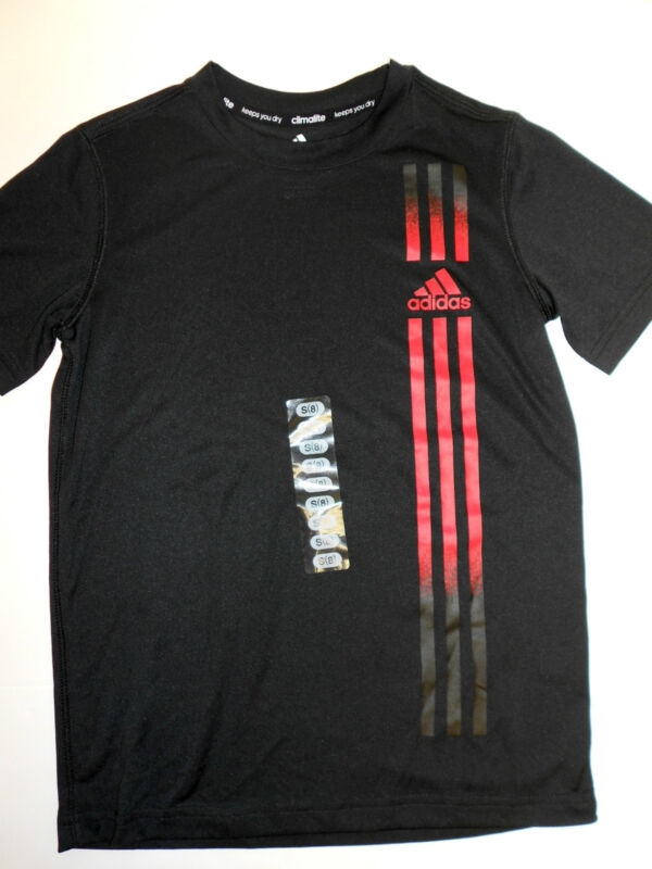 New Boys Adidas Climalite Quick Dry TShirt Tee Shirt YOU PICK COLOR & SIZE