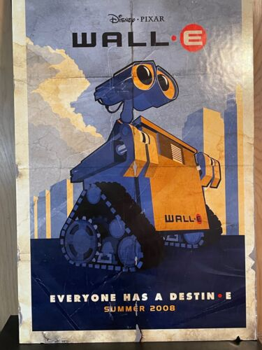 """THICK BOARD MOVIE THEATER POSTER DISNEY PIXAR WALL-E DISPLAY POSTER 40"""" X 27"""""""