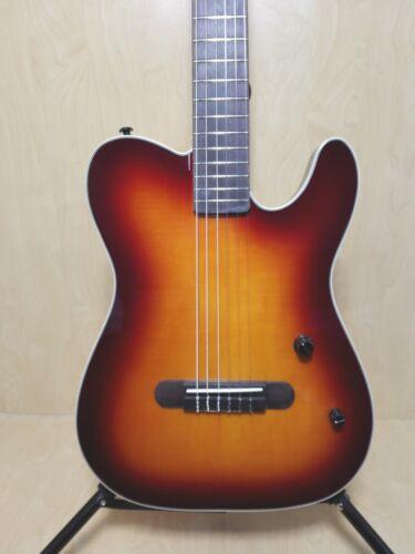 Haze Solid Body Nylon String Electric Guitar,Piezo Pickups+Free Bag MRC601EQCS