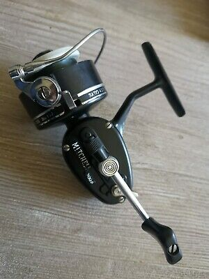 Vintage Mitchell 300A Fishing Reel With Enamel Alloy Spool Great Condition