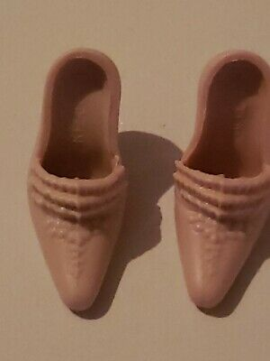 BARBIE PASTEL PINK  ADORNED  HIGH HEEL SHOES  FROM A GOLD LABEL COLLECTOR DOLL