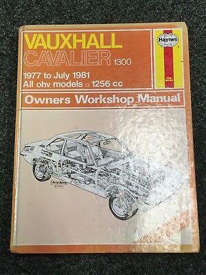 Haynes Owners Workshop Manual Vauxhall Cavalier 1300 1977- July 1981 OHV Models