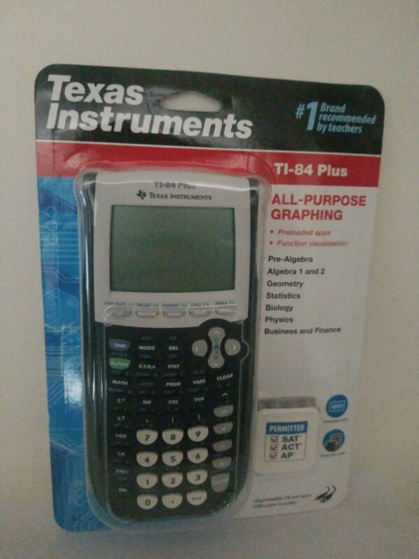 Ti-84 Plus New Factory SEALED LATEST MODEL Texas Instruments Graphing Calculator