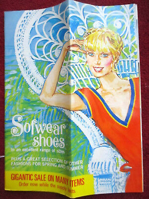 PERFECT COLOR GLOASSY Vtg 1970s MOD HIPPY SHOE CATALOG 20 pages SOFWEAR