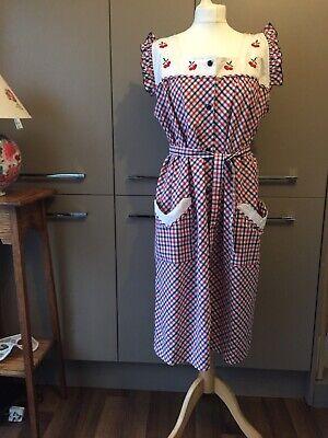 Vintage 60s Overall Women's Apron Dardi Label Women's  Workwear Dress XL Pinny