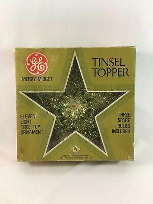 Vintage GE Merry Midget Star Christmas Tree Top Topper Tinsel Light 1960's - 70s