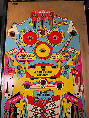 GOTTLIEB BRONCO / MUSTANG PINBALL MACHINE PLAYFIELD - USED