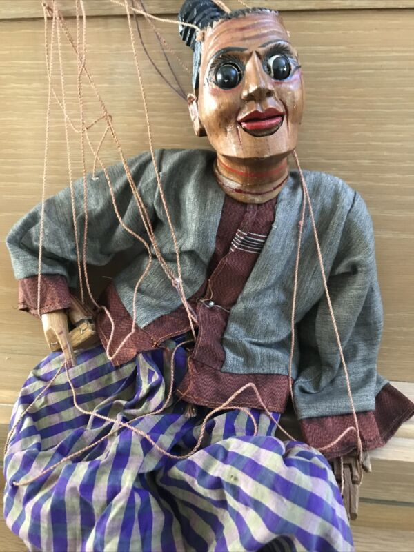 Marionette Puppet Asian Male Jointed Hands Movable Eyes And Mouth Penis