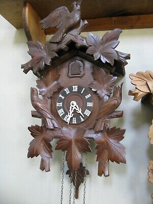Vintage German Cuckoo Clock from 1975 Mechanical Movement