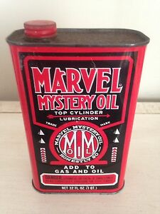 A-1 condition Marvel Mystery motor oil tin can gas pump sign