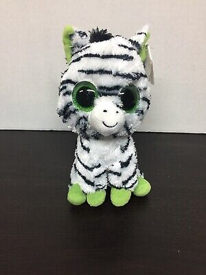 Zig Zag Plush - Ty Beanie Boos Zig Zag the Zebra Plush Stuffed Animal NEW NWT