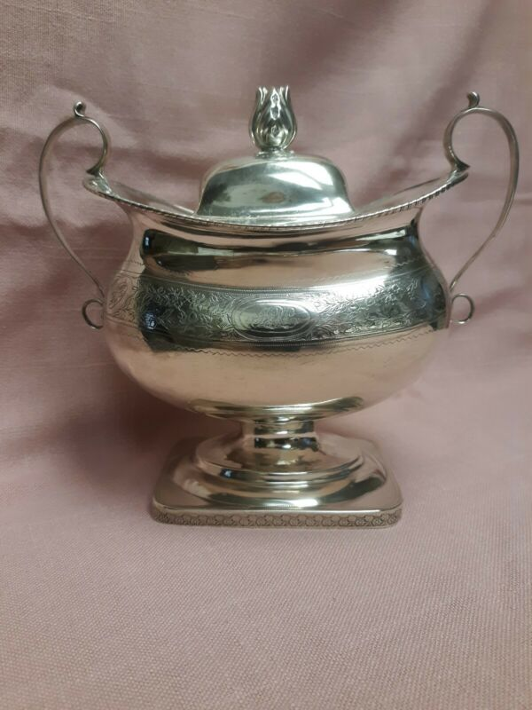 American Coin Silver Sugar Bowl Harvey Lewis